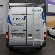 Project: Livin'Interiors - belettering/wrapping bestelwagen